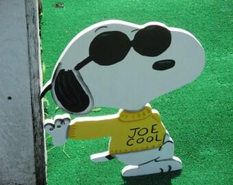 Joe Cool Snoopy Yard Sign