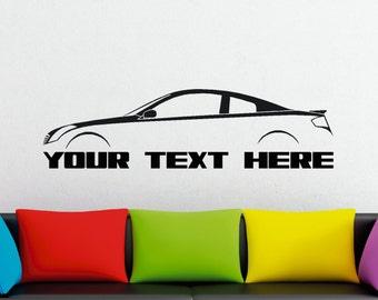 Large Custom car silhouette wall sticker - for Infiniti G35 Coupe