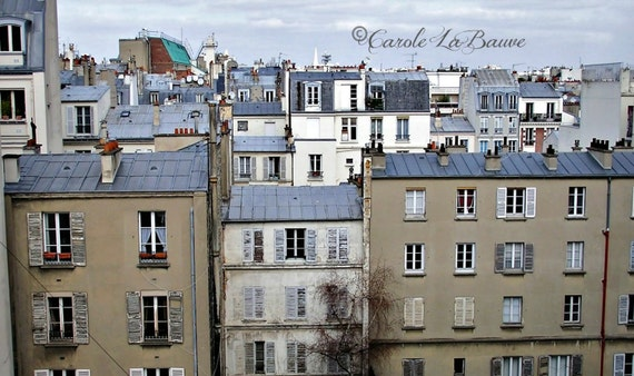 "PARIS TRAVEL PHOTOGRAPHY ~ Rooftops of Paris ~ French Architecture ~ Fine Art Photography ~ Wall art ~ ""I Love Paris..."" Series"