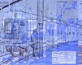 New York City Metro North Train drawn  on a New York City Subway Map! Trains, maps, subways, travel, transportation