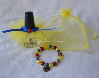 Snow White Inspired Nail Polish Tutu & Bracelet Gift Set