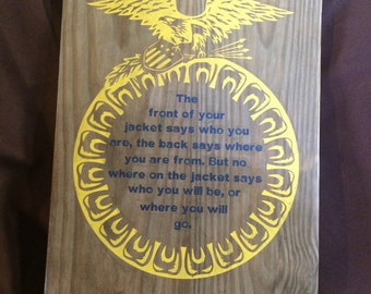 FFA THE JACKET ffa national blue corn gold the jacket