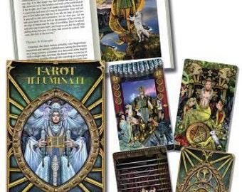Iluminati Tarot Scarabeo-78 cards,Big box edition Special,-IT-DE-ENG,Tarocchi,Divination,Oracle cards,Rider waite style,True Love