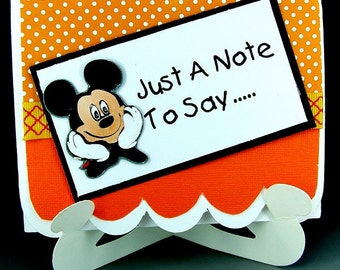 Disney Thank You Card, Mickey Mouse Card, Mickey Thank You Card, Mickey Mouse Pop-Up Card