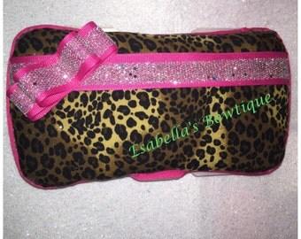 Cheetah wipe case;girl wipe cases;wipe case;custom wipe cases