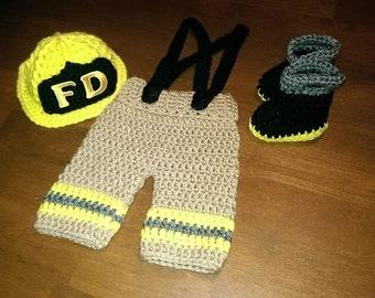 Fireman crochet set