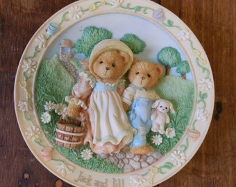 """Cherished Teddies Plate: Jack & Jill """"Our Friendship Will Never Tumble"""" 1994"""