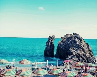 Italy Beach Print, Cinque Terre, Cinque Terre Photography, Italy Beach Photography, Beach Photo, Beach Print, Monterosso, Italy Beach Print