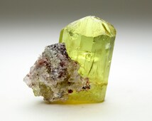 Stunning  well Terminated Golden Apatite Crystal