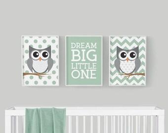 Nursery Decor - Owl Nursery Decor - Woodland Nursery Decor - Nursery Prints - Woodland Nursery Art - Owl Nursery Art -  Baby Nursery Decor