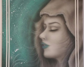 Calm and peaceful airbrushed painting that I call serenity