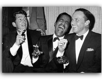The Rat Pack Frank Sinatra Sammy Davis Jr Dean Martin Canvas Art Print A1 A2 A3 A4