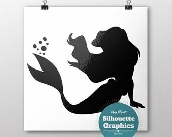 Ariel silhouette Etsy