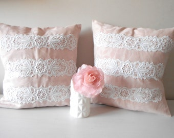 pink throw pillow etsy. Black Bedroom Furniture Sets. Home Design Ideas
