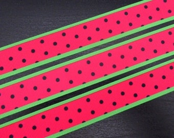 7/8 inch Grosgrain Ribbon - Watermelon - 5 metres
