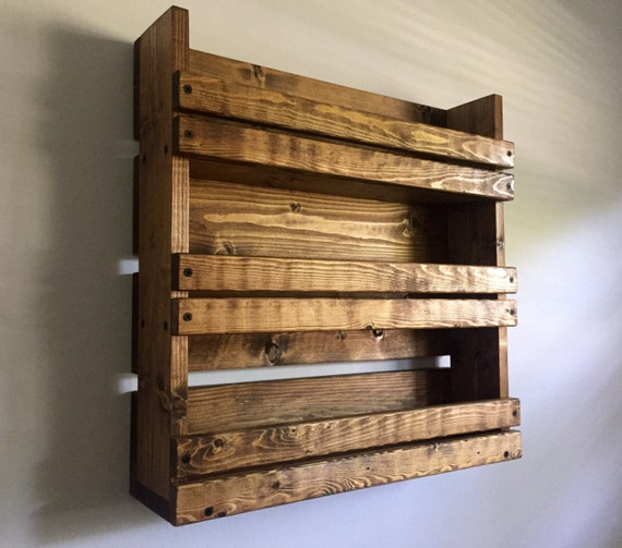 Rustic Spice Rack With 3 Shelves Kitchen By Blackironworks