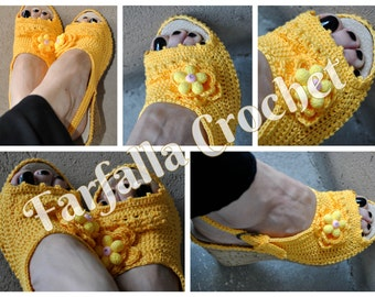 Crochet shoes, Spring-Summer-Autumn, Outdoor shoes, Slipper shoes