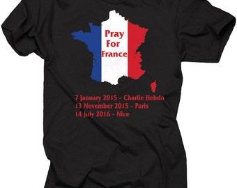 Pray For France T-shirt Nice Paris France Tee Shirt