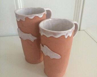 Terra Cotta Trout Mugs