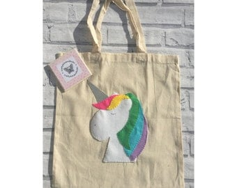 Unicorn tote bag, unicorn bag, unicorn gift, gifts for her, stocking filler
