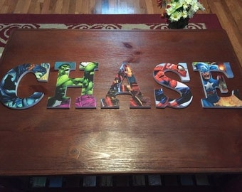 Custom Block Letters with Art