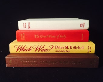Set of Four Vintage Wine Books