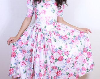 1980s does 1950s New Look Cotton Summer Dress