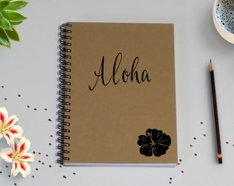 Travel Notebook, Aloha - 5 x 7 Journal, Adventure Notebook, Travel Journal,  Diary, Hawaiian Adventures, Hawaii