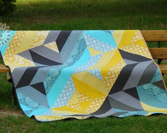 "Fancy Fence Quilt pdf Pattern 58""x92 1/2"""