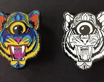 3rd  Eye Tiger - OG Steve Wilson Hat Pin LIMITED EDITION Set