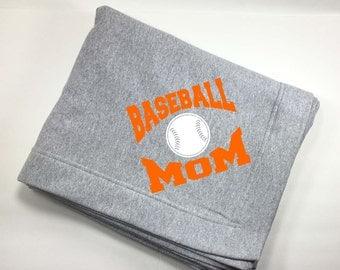 Gifts For Baseball Moms - Baseball Mom Stuff - Gift For Mom From Son - Oversized Throw Blanket - Baseball Stuff For Moms - Gift For Her