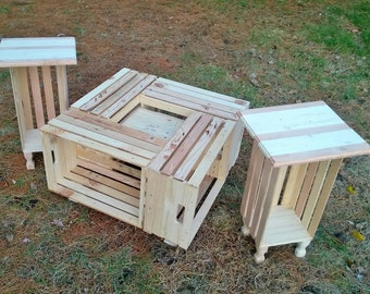 Crate Tables 3 Piece Set