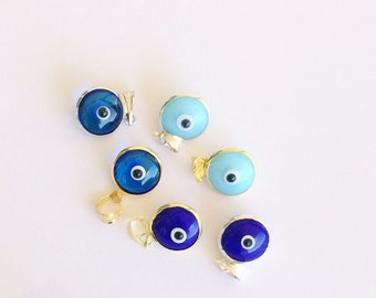 blue evil eye glass bead, gold plated 925 sterling silver, protection jewelry, evil eye jewelry, eye bead, eye charm, evil eye pendant