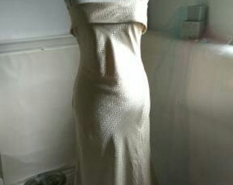 Gold Evening Dress by Zafir of London