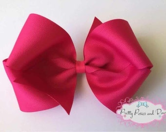 Large Pink Hair Bow, Dark Pink Hair Bow, Extra Large Pink Hair Bow, Boutique Bow, Pink Boutique Hair Bow, Pink Bow, Large Pink Bow