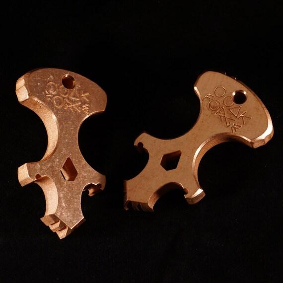 Copper Skully Keychain Multi-Tool