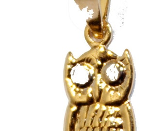 Owl 18k Gold Plated Charm Pendant Owl Charm Pendant - Buho - Good Luck - Owl Necklace