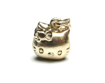 5pcs DIY Tibetan  Silver Kitty Pendant for Bracelet (Size:14x13x10mm)-WEN38185106232-GVN