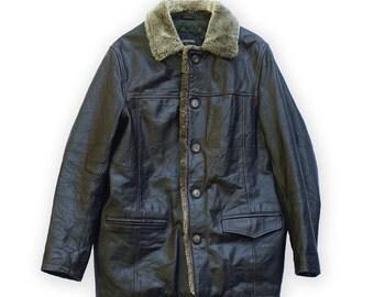 veste parka manteau cuir homme  Redskins vintage leather jacket coat men