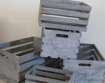 Stackable Wood Crate Etsy