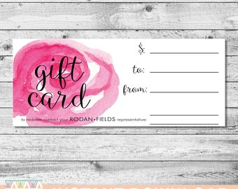 Rodan and Fields Gift Certificate | 4x8 | INSTANT DOWNLOAD