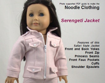 American Girl Doll Clothes PDF Pattern - Serengeti Jacket