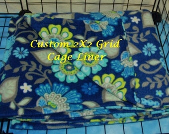 2 Grid X 2 Grid , 2 Layer Cage Liner Anti Pill Fleece
