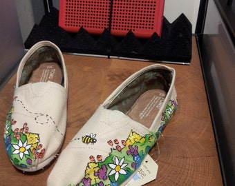 Toms Shoes Customized Spring Flower Garden