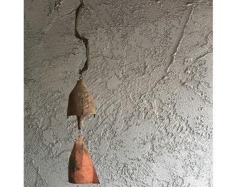 Vintage Mid Century Modern Paolo Soleri Arcosanti bronze bell