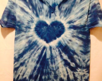 Heart Tie dyed shirt