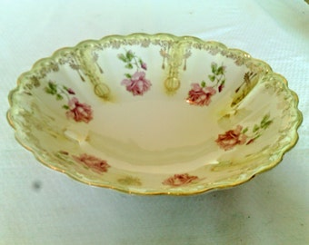 Unmarked Prussia Style Deep Serving Bowl