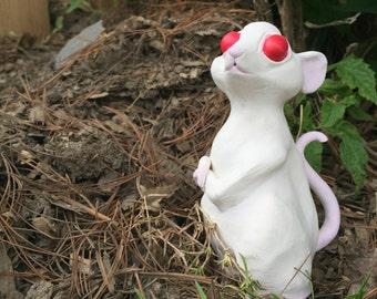 Albino Mouse-Sculpture