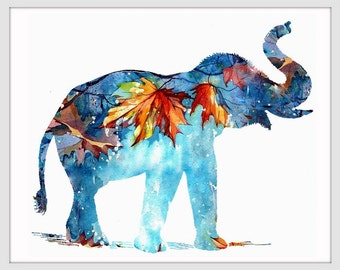 Elephant Art Print, Elephant Decor, Elephant Art, Elephant, Elephant Wall Decor 145