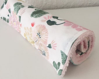 Desert floral minky burp cloth LAST ONE